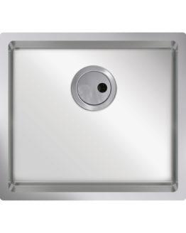 Fregadero de cocina pequeño en acero inoxidable para mueble de 50 cm