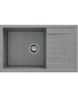 fregadero de granito con escurridor color gris