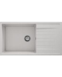 fregadero granito blanco con escurridor para mueble de 60 cm