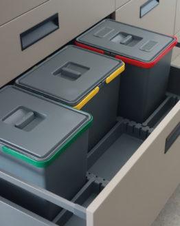 Cubos de reciclaje para la cocina