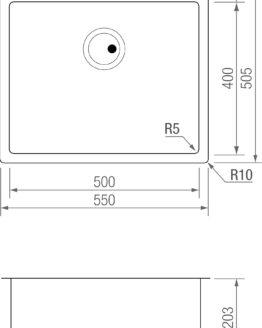 FREGADERO R5 FG 5040 TITANIUM