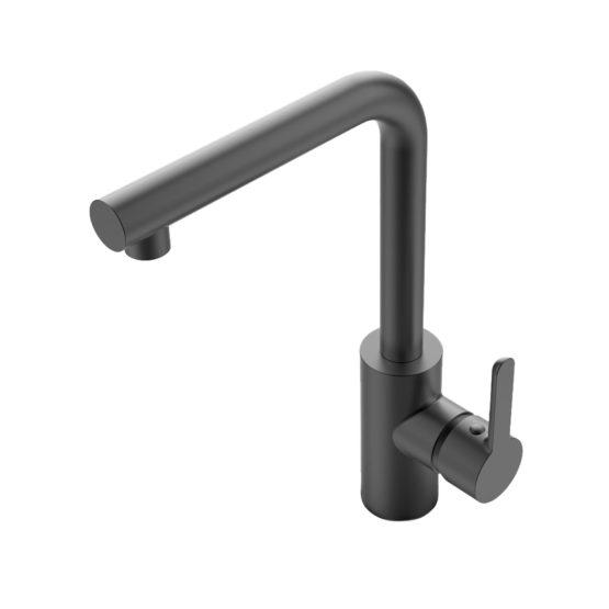Grifo de cocina en PVD acabado en color negro titanium