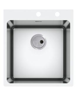 fregadero de cocina en acero inoxidable para mueble de 45 cm