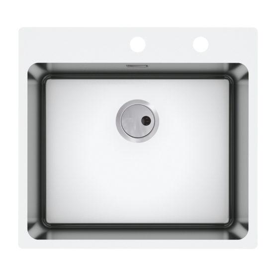 fregadero de cocina en acero inoxidable para mueble de 60 cm