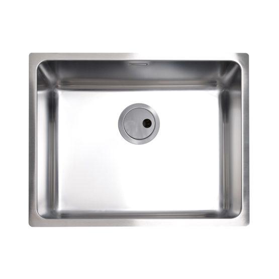 cubeta de cocina en acero inoxidable para mueble de 60 cm