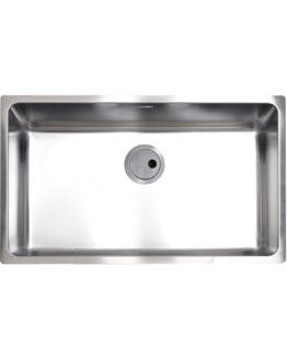 cubeta de cocina en acero inoxidable para mueble de 80 cm